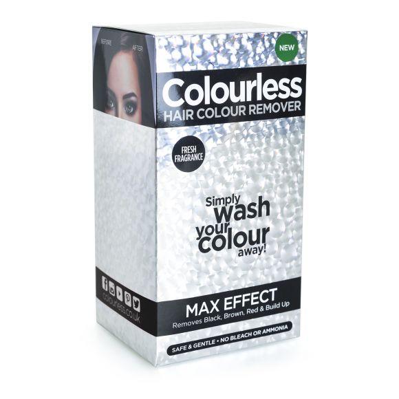 Skidač farbe za kosu bez blanša (crne, braon i crvene nijanse) COLOURLESS Max Effect 3x60ml