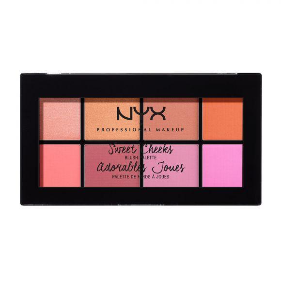 Paleta rumenila NYX Professional Makeup Sweet Cheeks Blush Palette SCBP01 8x4g