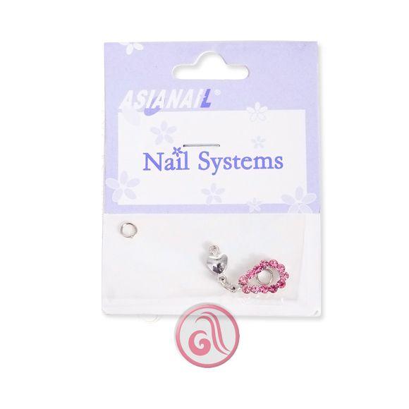 Privezak za nokte pink srce ASNGS12