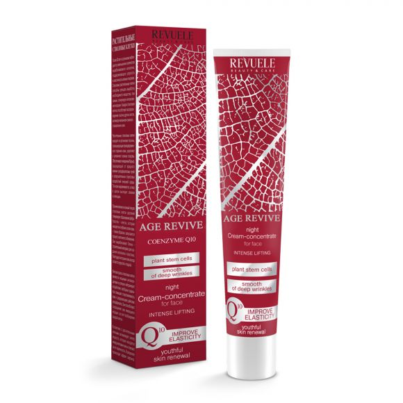 Noćna krema za lice sa koenzimom Q10 REVUELE Age Revive 50ml