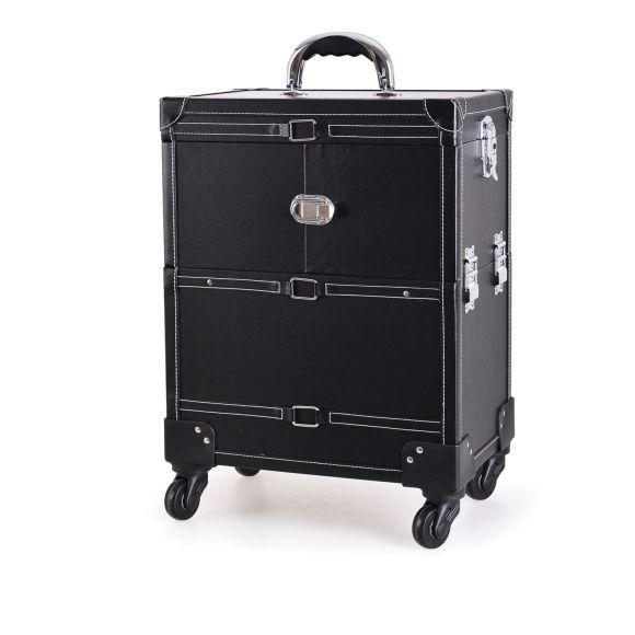 Kozmetički kofer za alat i pribor GALAXY C-1041 crni sa točkićima