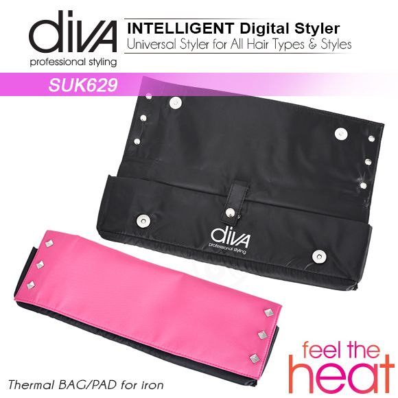 Hair Straightener Feel The Heat Diva With Ceramic Plates Radiant Orchid