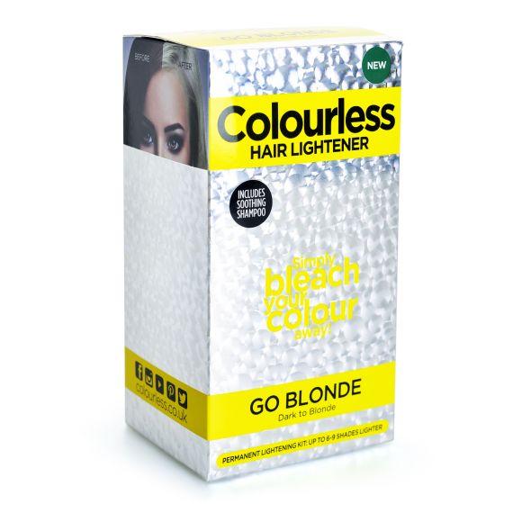 Set za posvetljivanje kose 6-9 nijansi ( blanš+hidrogen) COLOURLESS Go Blonde 25g+75ml+10ml