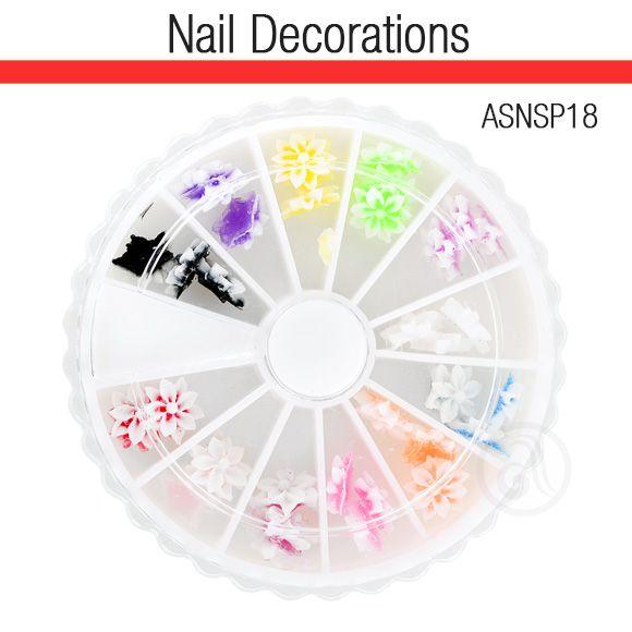 Ukrasi za Nail Art 3D cveće ASNSP18