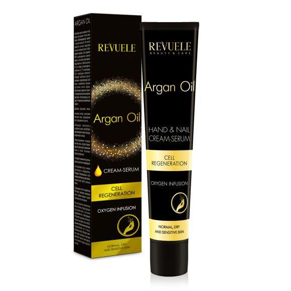 Krema-serum za ruke i nokte sa uljem argana REVUELE Argan Oil 50ml