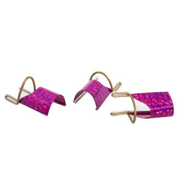 Aluminijumski šabloni za izlivanje noktiju Pink ASNNF15 5/1