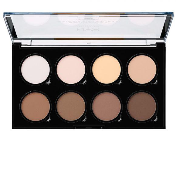 Paleta za konturisanje lica NYX Professional Makeup Highlight & Contour Pro Palette HCPP01 8x2.7g