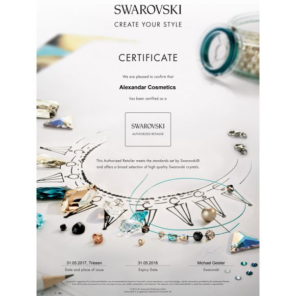 Kristali za nokte SWAROVSKI, A 2058 XILION Rose Enhanced, SS5 Jet 40/1