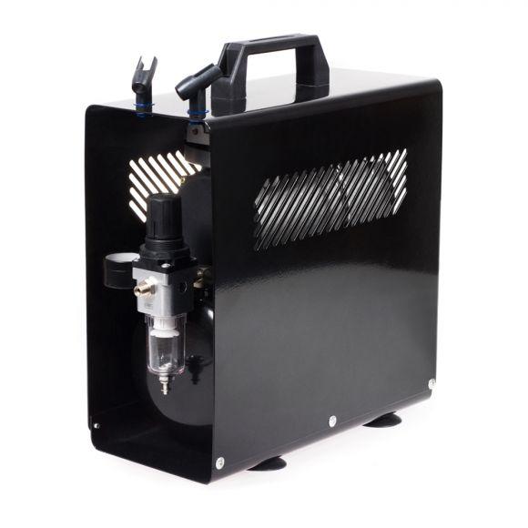 Klipno/bezuljni kompresor za airbrush AS186A sa metalnim kućištem i rezervoarom od 3l
