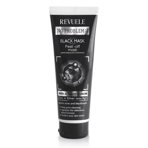Crna maska za čišćenje lica sa aktivnim ugljem REVUELE No Problem 80ml