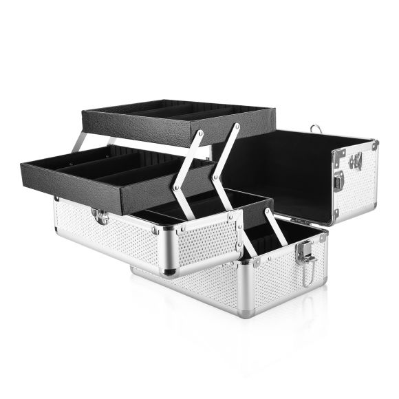 Kozmetički kofer za alat i pribor GALAXY TC-1432WG beli gliter dizajn