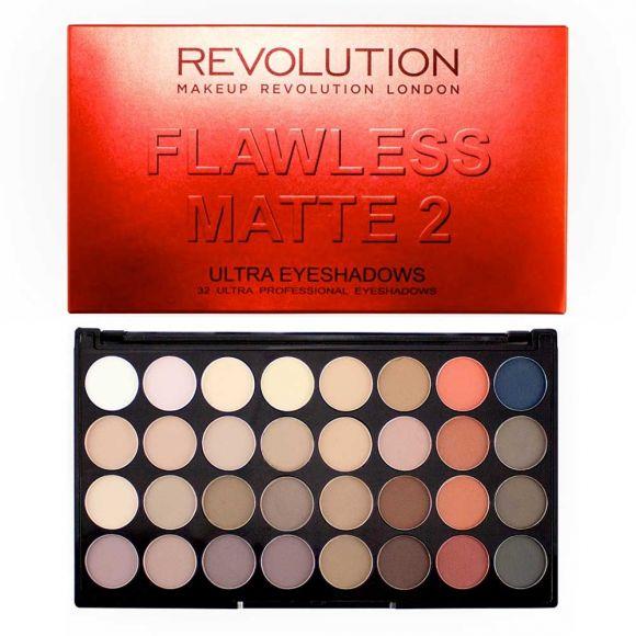 Paleta senki za oči MAKEUP REVOLUTION Flawless Matte 2 16g