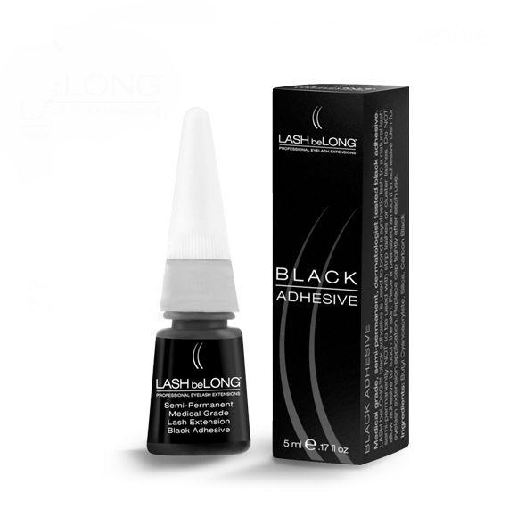Lepak za svilene trepavice LASH beLONG Crni 5ml