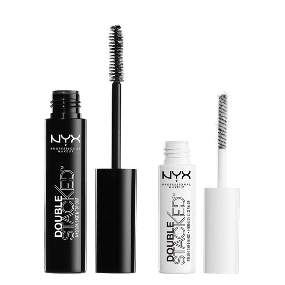 Maskara za oči NYX Professional Makeup Double Stacked DSM01 1x1g + 1x11ml