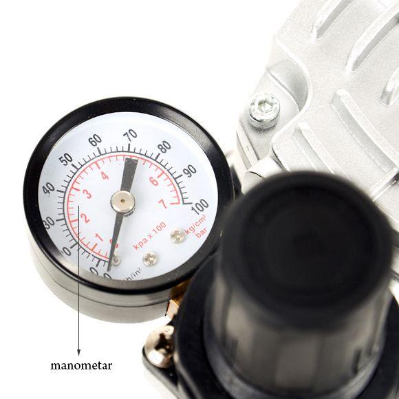 Klipno/bezuljni kompresor za airbrush AS182 sa jednim izlazom i rezervoarom od 0,5l