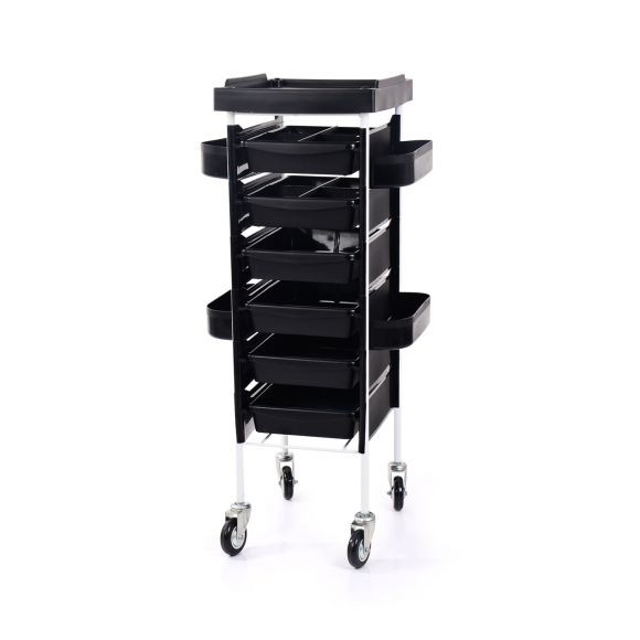 Frizerska pomoćna radna kolica za viklere i frizerski pribor NV-38028 sa 6 fioka bez držača za fen