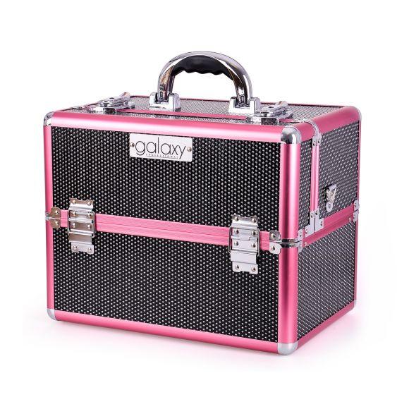 Kozmetički kofer za alat i pribor GALAXY TC-3329BP crno-pink gliter dizajn