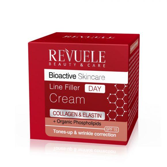 Dnevna krema za korekciju bora REVUELE Bioactive Collagen&Elastin 50ml