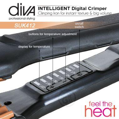 Presa za kosu Feel The Heat SUK412 Diva sa keramičkim pločama za Cik Cak talase