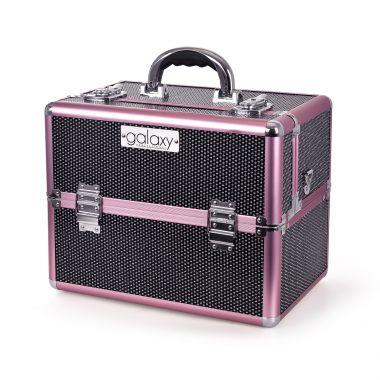 Kozmetički kofer za alat i pribor GALAXY TC-3203BG Crni gliter dizajn