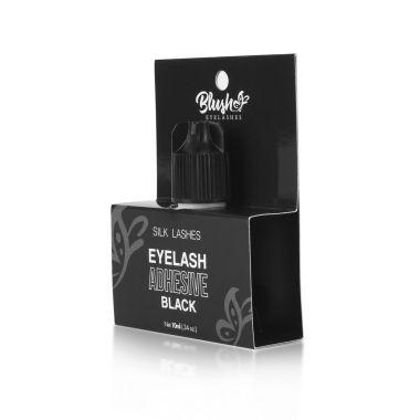 Lepak za nadogradnju Silk svilenih trepavica BLUSH Extra Quick Crni 10ml