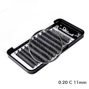 Svilene trepavice za nadogradnju BLUSH C-Kriva 11mm