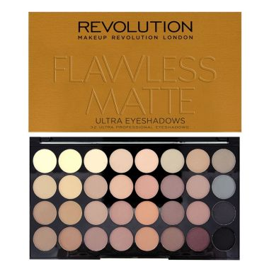 Paleta senki za oči MAKEUP REVOLUTION Flawless Matte 16g