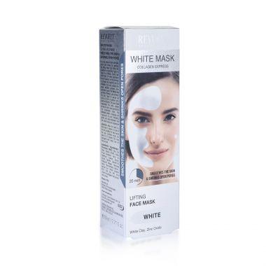 Bela maska za zatezanje lica sa kolagenom elastinom i belom glinom REVUELE Lifting 80ml