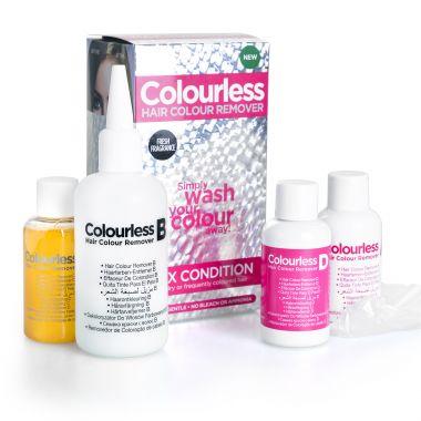 Skidač farbe za kosu bez blanša za suvu i oštećenu kosu COLOURLESS Max Condition 4x60ml
