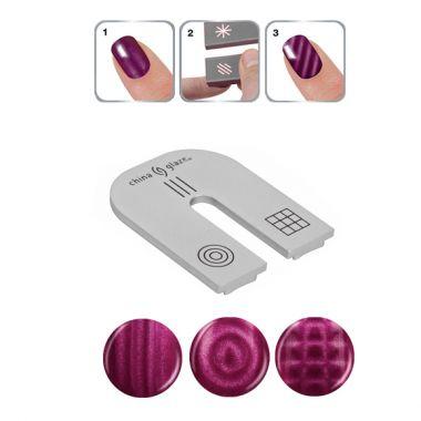 Magnet sa tri dizajna za Nail Art CHINA GLAZE Magnetix II