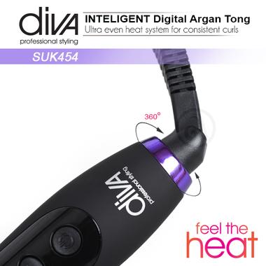 Figaro za kosu kupasti Feel The Heat SUK454 Diva sa uljem argana i keramičkom cev 45-22mm