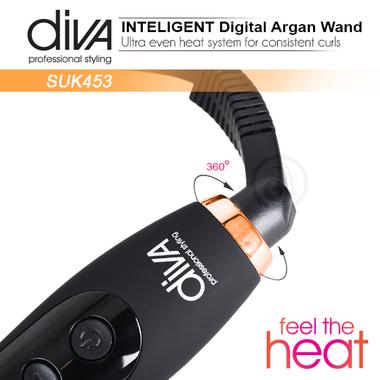 Figaro za kosu kupasti Feel The Heat SUK453 Diva sa uljem argana i keramičkom cevi  32-19mm