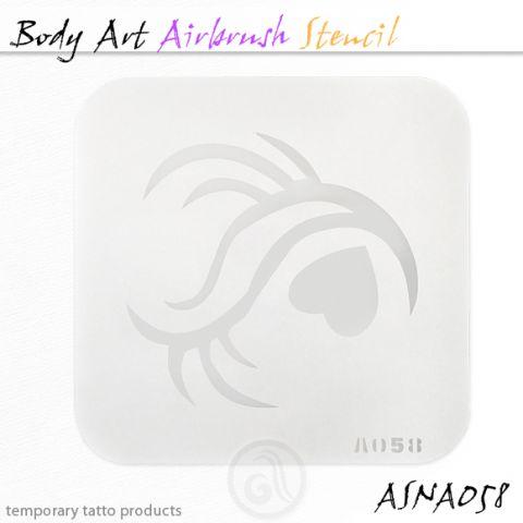 Airbrush šablon za telo ASN-BMA-A058
