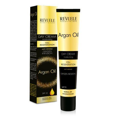 Dnevna krema protiv bora REVUELE Argan Oil 50ml