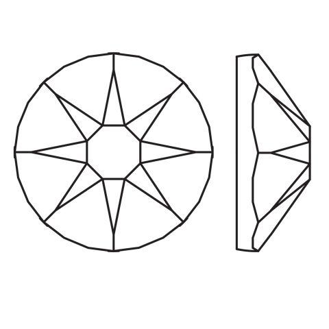 Kristali za nokte SWAROVSKI A 2088 XIRIUS Rose SS12 Jet 20/1