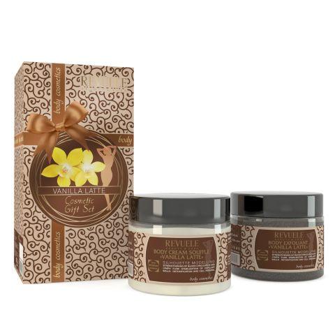 Poklon set za piling i negu kože REVUELE Vanilla Latte