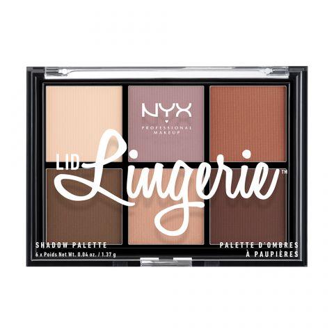 Paleta senki za oči NYX Professional Makeup Lid Lingerie LLSP01 6x1.37g