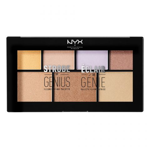 Paleta iluminatora NYX Professional Makeup Strobe of Genius Illuminating Palette STGP01 4x2g + 3x4g