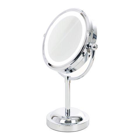 Dvostrano uveličavajuće kozmetičko ogledalo sa led svetlom  ST-410