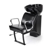 Ceramic shampoo chair for hair washing NS-5515 with adjustable chair Black