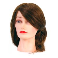 Training Head Natural Hair COMAIR Brown 40cm