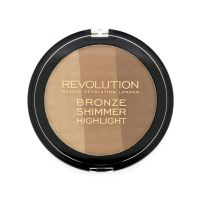 Bronzer, hajlajter i iluminator za konturisanje lica 3u1 MAKEUP REVOLUTION Ultra Bronze, Shimmer and Highlighter 15g