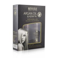 Poklon set za negu kose REVUELE Argan Oil & Keratin