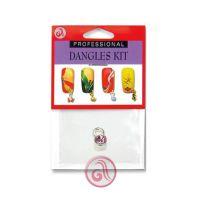 Privezak za nokte roze cirkon D24