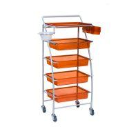 Frizerska pomoćna radna kolica za viklere i frizerski pribor BD43-001D sa 4 police i 1 fiokom