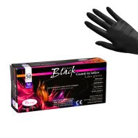Latex Gloves Powder Free ROIAL Black M 50pcs