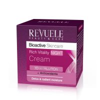 Rich Vitality Night Cream REVUELE Bioactive 3D Hyaluron&Antioxidant 50ml