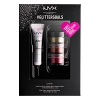 Set Face & Body Glitter and Primer NYX Professional Makeup #glittergoals GLISET02 3x1.5g