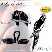Airbrush šablon za telo Ptice