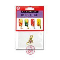 Privezak za nokte zlatno stopalo D3